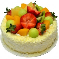 Delicious Mix Fruits Cream Cake